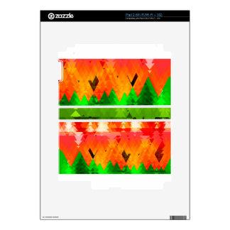 Orange Green Fall themed Wallpaper iPad 2 Decals