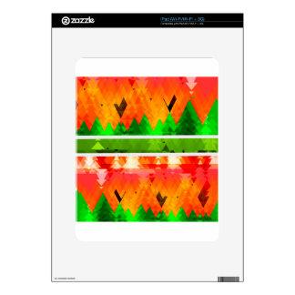 Orange Green Fall themed Wallpaper Skin For iPad