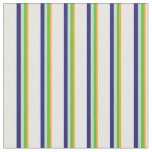 [ Thumbnail: Orange, Green, Gray, Midnight Blue, Mint Cream Fabric ]