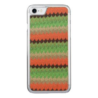 Orange Green Knit Crochet Black Lace Carved iPhone 8/7 Case