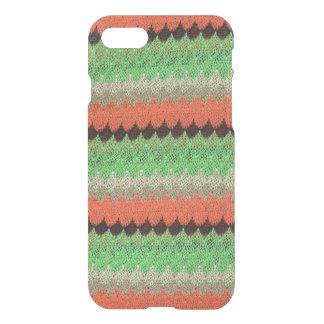 Orange Green Knit Crochet Black Lace iPhone 8/7 Case