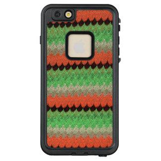 Orange Green Knit Crochet Black Lace LifeProof FRĒ iPhone 6/6s Plus Case