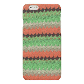 Orange Green Knit Crochet Black Lace Matte iPhone 6 Case