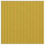 [ Thumbnail: Orange & Green Lines/Stripes Pattern Fabric ]