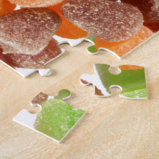 Orange green red gum candy sprinkled with sugar jigsaw puzzle