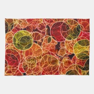 Orange_Green_Red Pattern Kitchen Towels