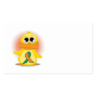 Orange & Green Ribbon Duck Business Card Template