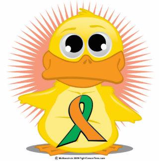Orange & Green Ribbon Duck Cutout