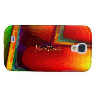 Orange Green Samsung Galaxy S4 case for Martina