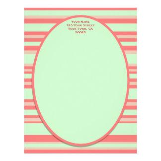 orange green striped letterhead