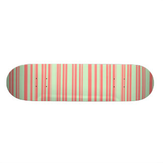 orange green stripes skateboard deck