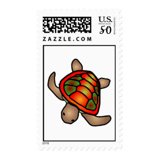 Orange & Green Turtle Stamp Postage