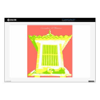"Orange/Green/Yellow Horreo pop art Skin For 17"" Laptop"