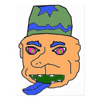 Orange Gremlin Head Post Cards