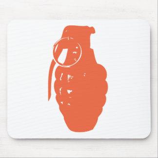 Orange Grenade Mouse Pad