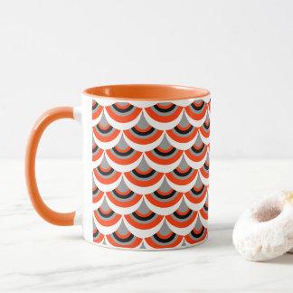 Orange Grey Black Mix Modern Geometric Pattern Mug