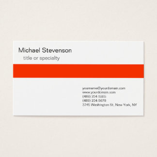 Orange Grey White Consultant Business Card