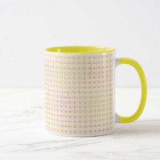 Orange Grid Cup / Mug