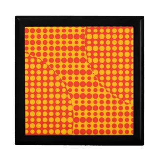 Orange Grunge Background Jewelry Box
