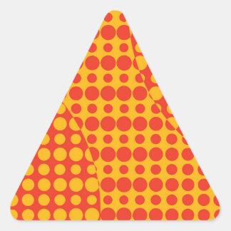 Orange Grunge Background Triangle Sticker