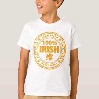 Orange grunge Irish with clovers tee shirt