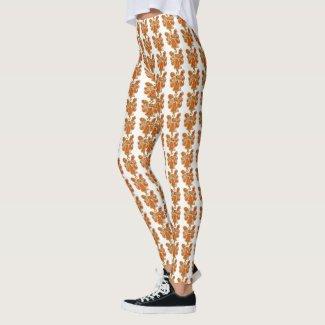 Orange Guardian Angel Art Custom Holiday Leggings