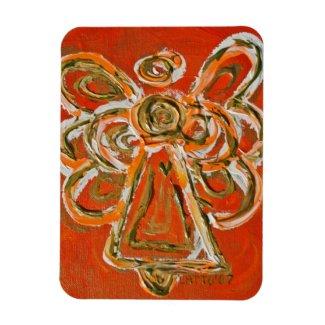 Orange Guardian Angel Custom Magnet Art Painting