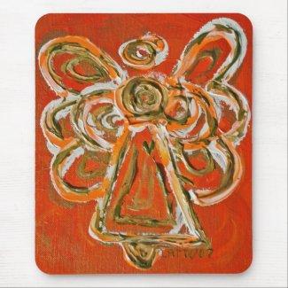 Orange Guardian Angel Mousepad