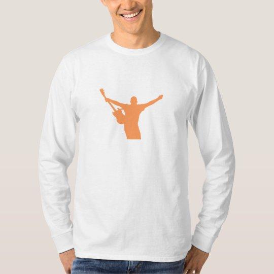 Orange Guitar Player Silhouette T-Shirt