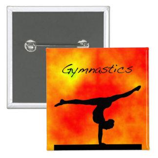 Orange Gymnastics Button