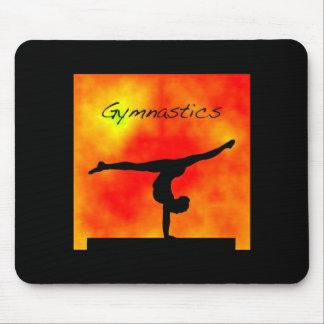 Orange Gymnastics Mousepad