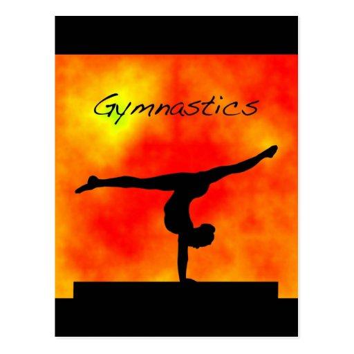 Orange Gymnastics Postcard