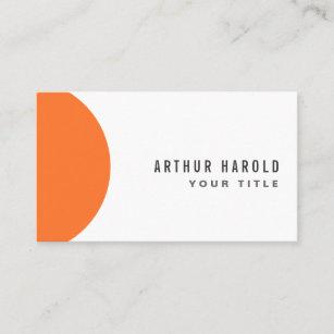 Half circle business cards templates zazzle orange half circle white modern minimalist business card colourmoves