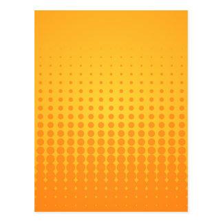 Orange Halftone Pattern Postcard