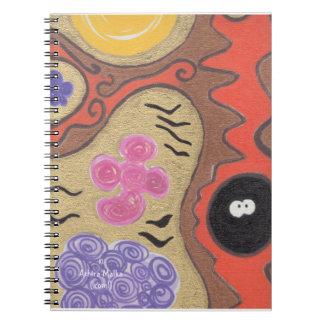 Orange Halloween Autumn Tree Spiral Notebook