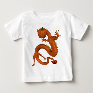 Orange Halloween Pumpkin Dragon Baby T-Shirt