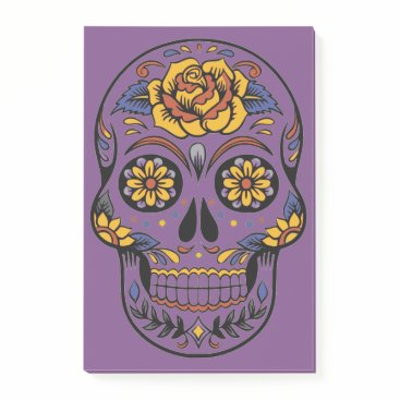 Halloween Themed Orange Halloween Skull Post-it Notes