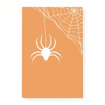 Halloween Themed Orange Halloween Spiderweb Post-it Notes