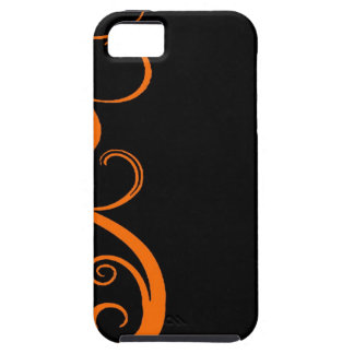 Orange Halloween Swirl iPhone 5 Cover