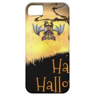 Orange Halloween Vampire Bat Background Case For iPhone 5/5S