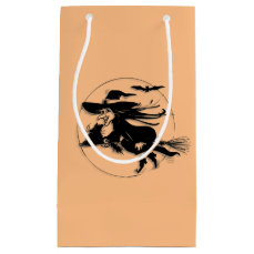 Orange Halloween Witch Small Gift Bag