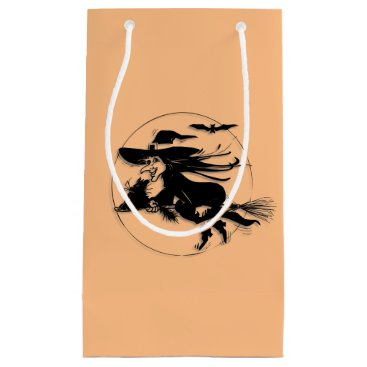 Halloween Themed Orange Halloween Witch Small Gift Bag
