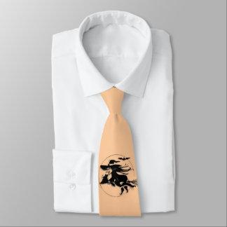 Orange Halloween Witch Tie