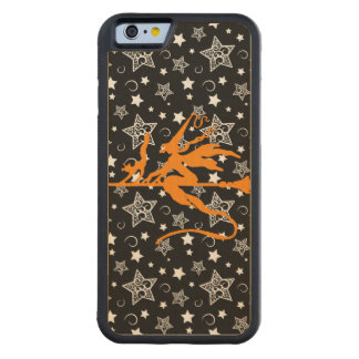 Orange Halloween Witch Carved® Maple iPhone 6 Bumper