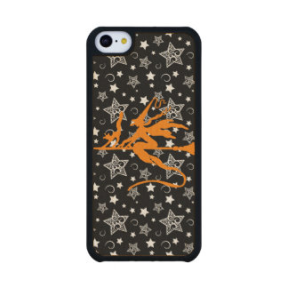 Orange Halloween Witch Carved® Maple iPhone 5C Slim Case