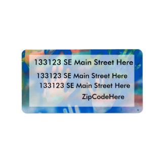 Orange hands on a blue background custom address labels