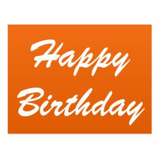 Orange Happy Birthday Postcard