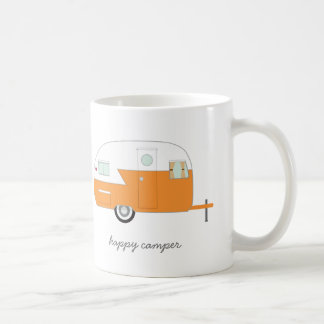 Orange Happy Camper Mug