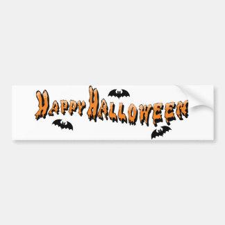 Orange Happy Halloween Bumper Stickers