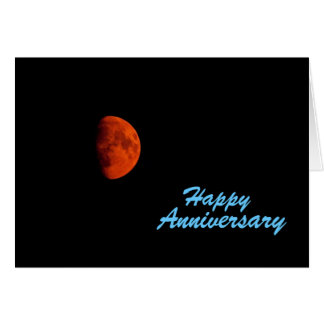 Orange Harvest Moon, Anniversary Card